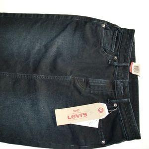 Levi's Denim Pencil Skirt, After Dusk Wash